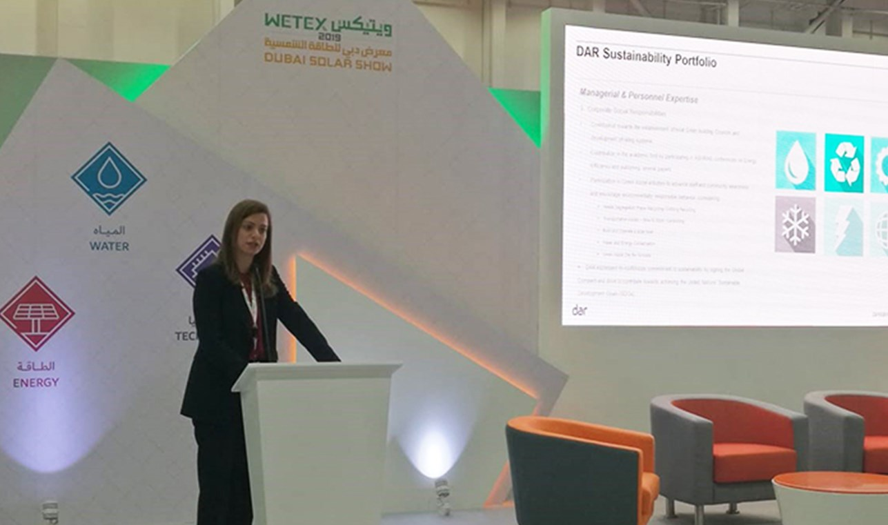 Dar Talks Sustainability at Dubai's WETEX 2019